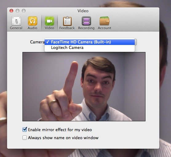 Using Multiple Cameras with GoToMeeting, Skype, WebEX or