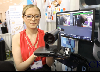 HuddleCamHD Simpltrack2 Photo with Tess from ISTE-1